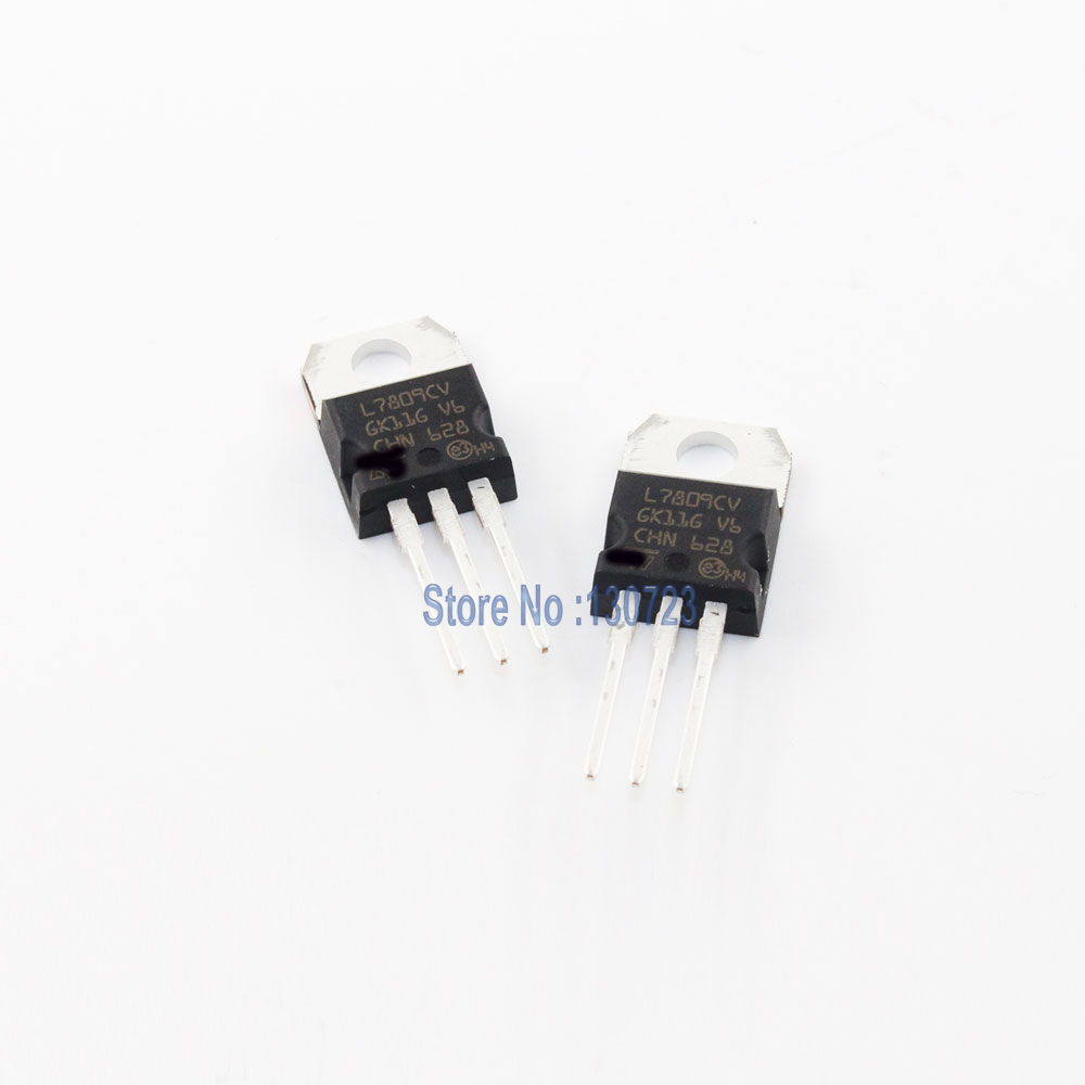 10PCS/LOT L7809CV L7809 7809CV 7809 TO220 9V 1.5A diy kit raspberry banana pi zero boost channels bag