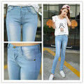 Large Size 26-31 /3 Color 2015 women's fashion leggings feet pencil jeans Skinny tight pants feet