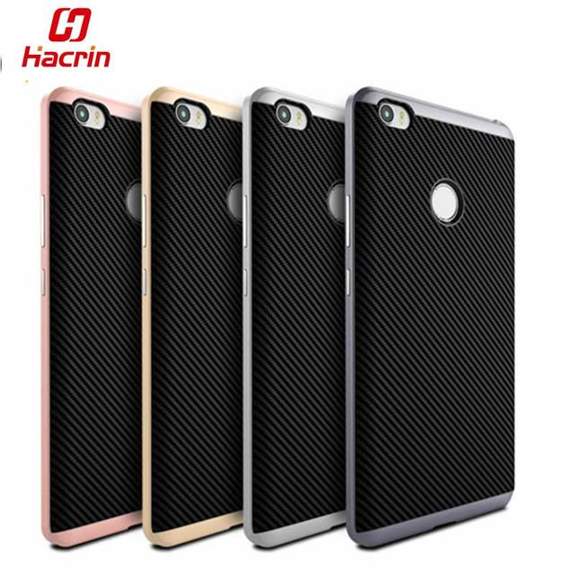 hacrin xiaomi mi max case hybrid tpupc dual layer frame silicon protective back cover - Dual Picture Frame