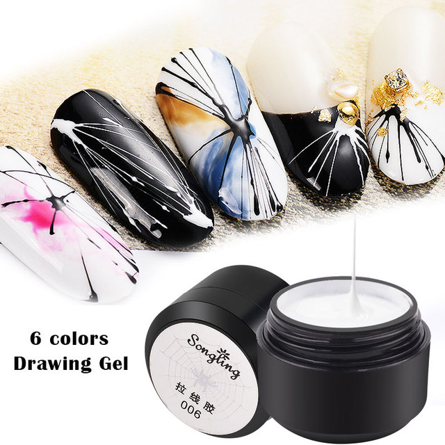 beateal graffiti wire drawing nail gel point to line painting gel varnish pulling silk spider nail