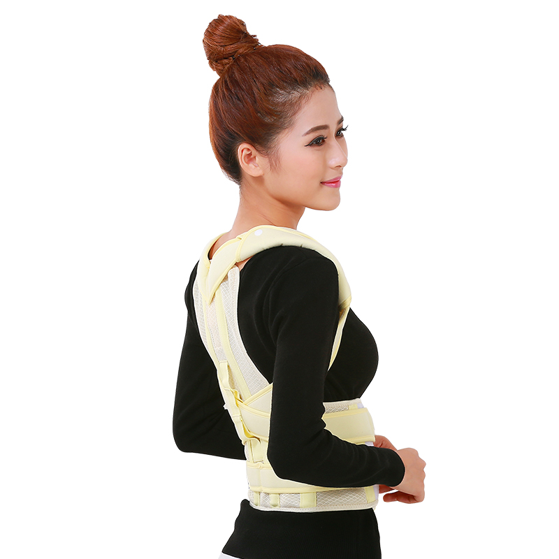 100% new brand high quality Adjustable Therapy Back Support Braces Belt Band Posture Shoulder Corrector for Fashion Health free size o x form legs posture corrector belt braces