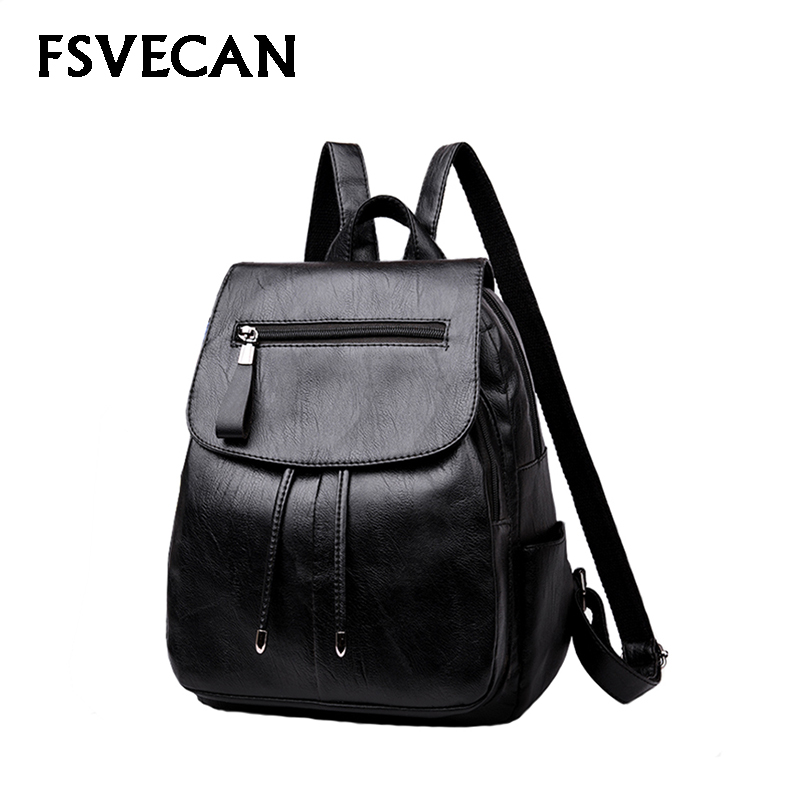 New 2019 Fashion Women Backpack School Shopping Travel Backpacks Female Soft Leather Cover Small Bags College