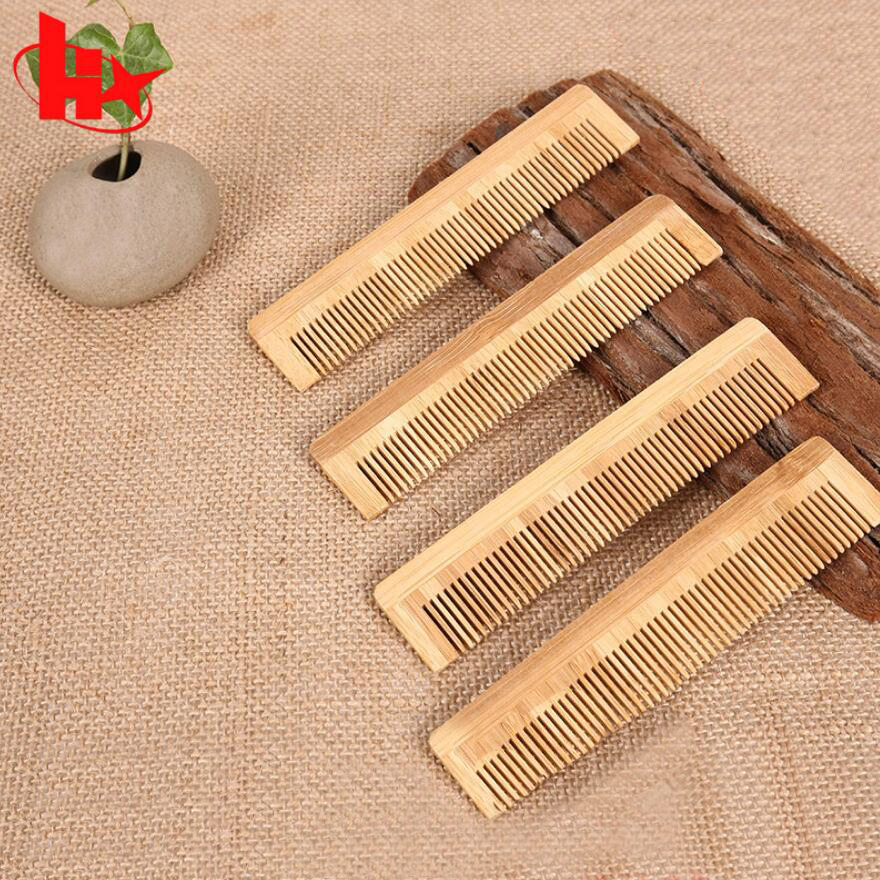 100PCS Natural Peach Wood Hair Comb Peach Wood Teeth Healthy No-static Massage Hair Wooden Comb 15cm Length D30