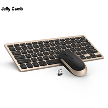 Jelly Comb 2.4G Wireless Keyboard Mouse Combo Set Ultra Slim Portable Keyboard and Mice for PC Desktop Computer Notebook Laptop цена и фото