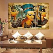 3 предмета новые стены Книги по искусству абстрактные современные афро древний Египетский изображения портрет, живопись, холст, масло на печать для Гостиная ht057