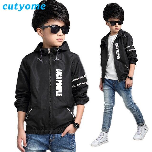 6 Stkspartij Cutyome Jongens Windjack Geul Jas Mode Kinderen Letters Patroon Vest Jas 4 16y Tieners Uitloper Kleding In 6 Stkspartij Cutyome Jongens