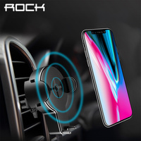 QI Car Wireless Charger For IPhone 8 X Samsung Galaxy S8 Note 8 Plus ROCK Phone