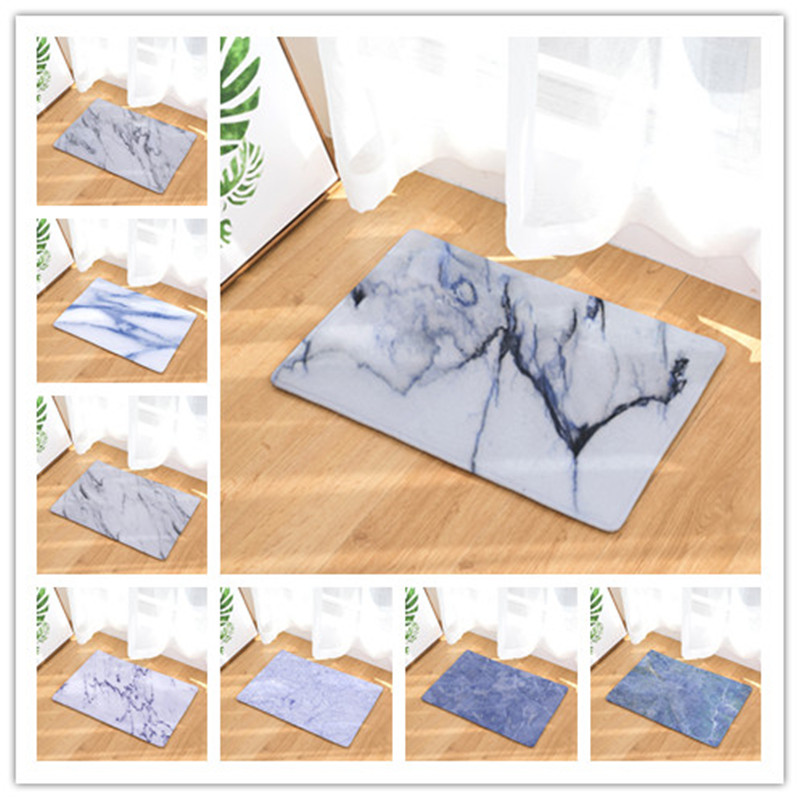 Homing New Arrive Welcome Home Door Hallway Mats Colorful Marble Stone Carpets Light Thin Flannel Water Absorption Bedroom Rugs