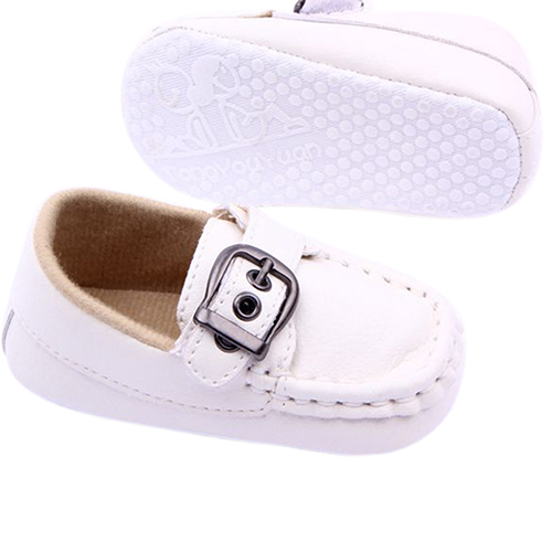 Fashion Toddler Baby Boys Prewalker Kids Buckle Faux Leather Comfy Trainers Crib Shoes