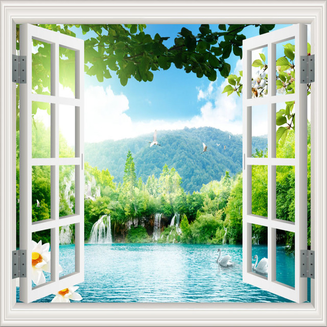 background window living landscape decor lake tv washable zoom wallpapers aliexpress mouse