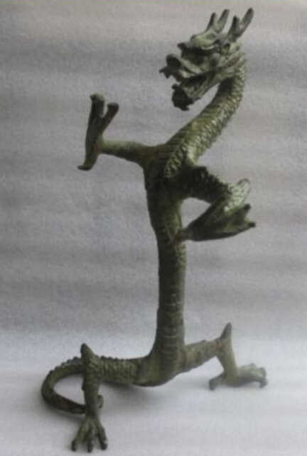 SUIRONG---526 +++ Altura: 23.5 cm */elaborar figura de bronze da estátua do dragão Chinês