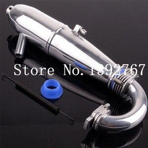1 комплект, алюминиевая выхлопная труба и пружина HSP 81084 для моделей RC 1/8, RC автомобилей 28CXP Nitro, детали двигателя, мощный багги