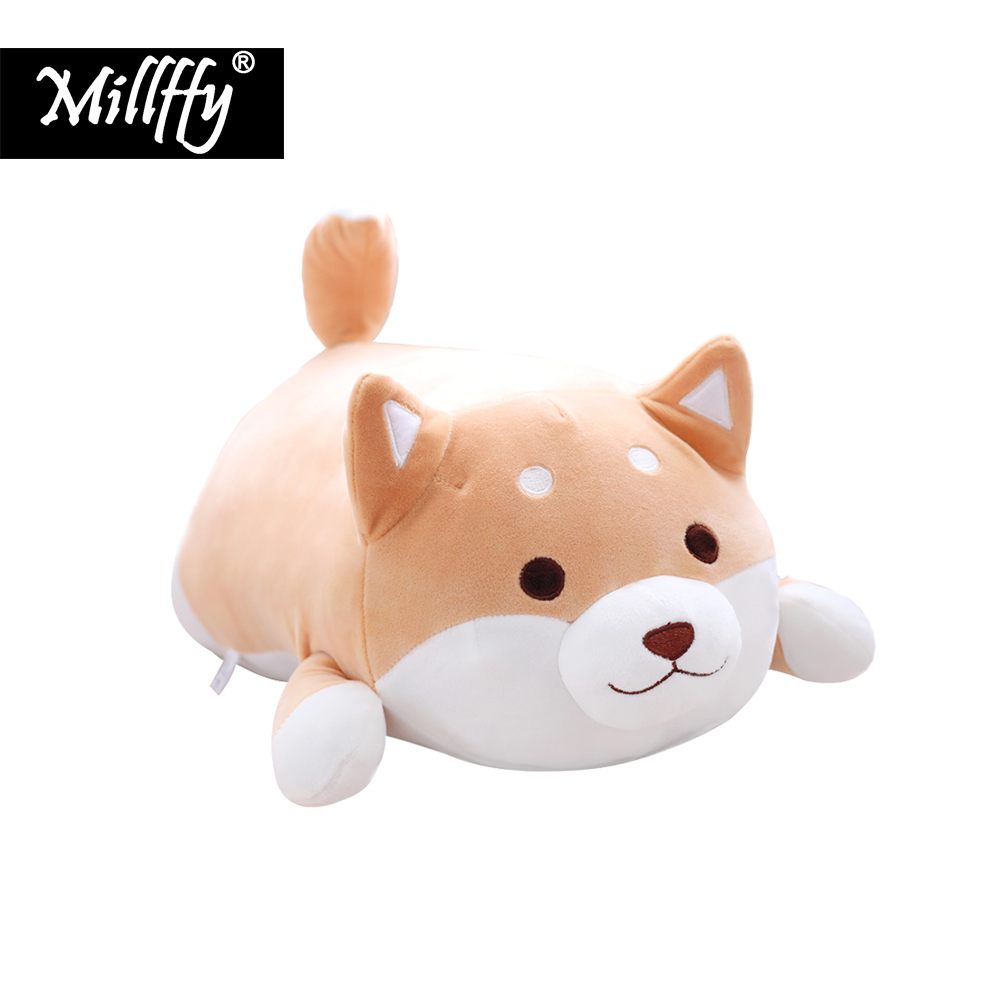 Dropshipping Millffy 30cm/50cm Super Soft Peluche Shiba Inu Plush Puppy Dog Pillow Stuffed Toy Plushie Doll For Kids Children