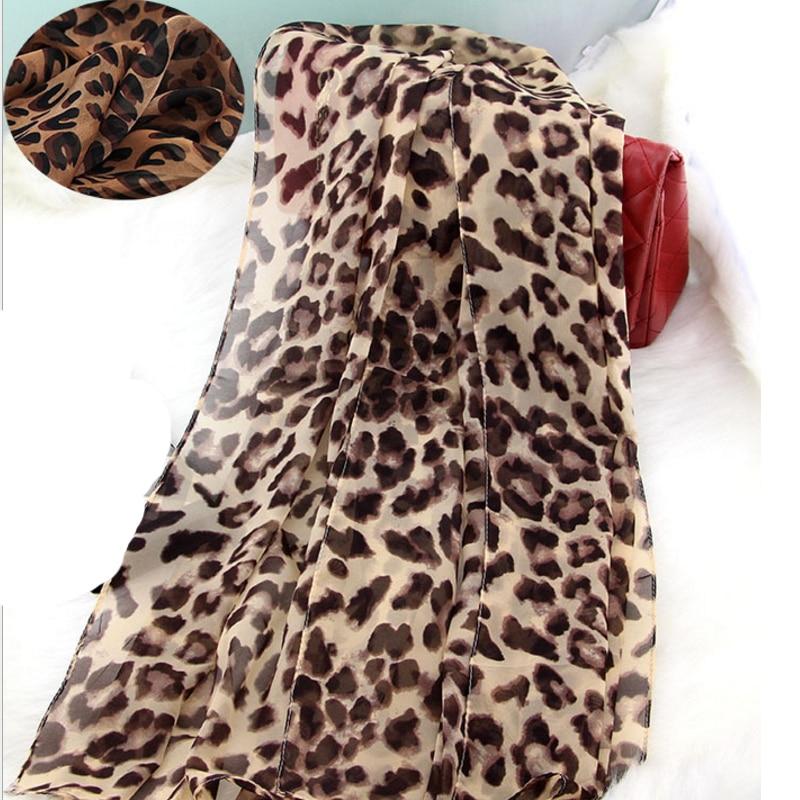 Leopard Print Silk Scarf Femme Netherlands Autumn 65*165CM Big Size Scarf Women Shawl Wrap Bandana Long Satin Scarves Female