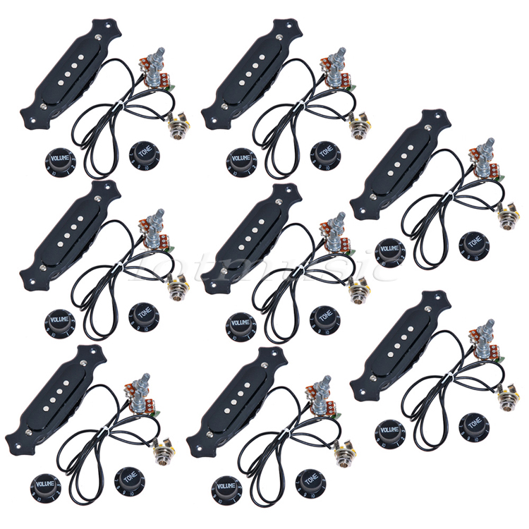 8Sets Electric Guitar Pickup With Knobs Pre-Wired For Cigar Box Guitar 4&6 String