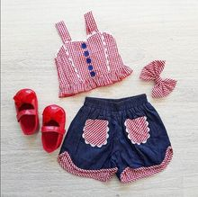 toddler girl clothes summer girls short sets new kids outfits fashion sleeveless 2019 thanksgiving 4th of july outfit