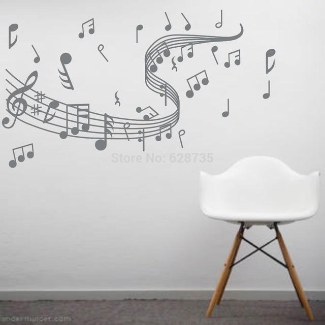 musical note wall decals creative vinyl wall art sticker decor dance