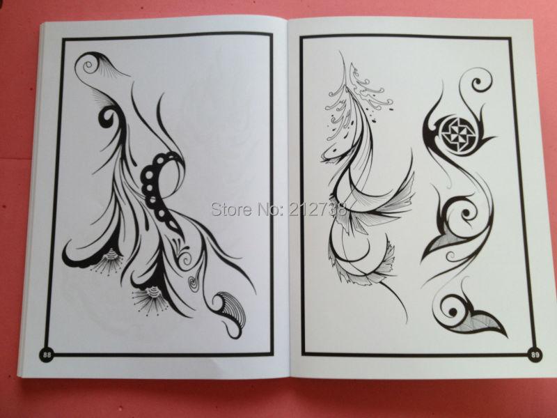 Free shipping 2014 new Mysterious symbols Fantasy Totem Dragon Phoenix Tattoo Flsh Book Sketch