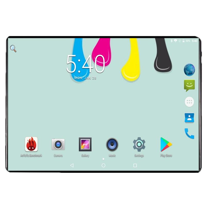 2019 google 10.1 polegadas tablets android 9.0 6 gb ram 64 gb rom octa núcleo 1280x800 2.5d ips tela dupla sim cartões 3g 4g fdd lte almofada