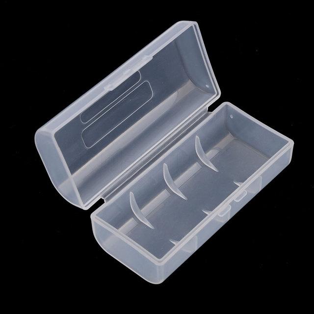 1pcs 26650 Rechargeable Battery Storage case Hard Plastic Case Holder Transparent Clear Storage Box Top Quality