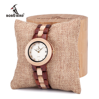 BOBO BIRD M19 Women Quartz Watches Fashion Brand Ladies Dress Wristwatch With Full Wooden Band In