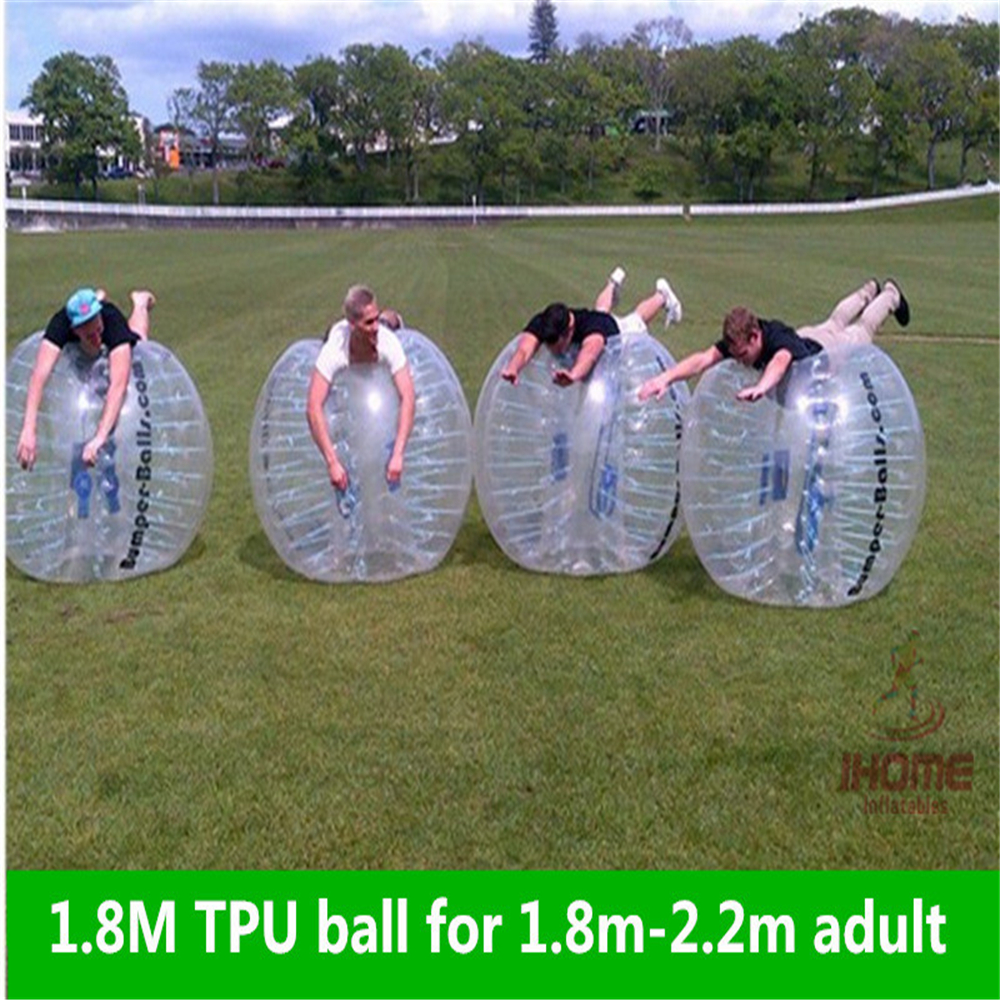 1 8M TPU Inflatable Bubble Soccer Football Ball for adults Zorb Ball inflatable human hamster ball Bumper Ball for man in Soccers from Sports Entertainment