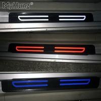 Carbon Fiber Reflective Car Door Sills For Nissan Tiida Sylphy SENTRA Sunny Almera TeanaPaladin Patrol GTR