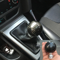 Fibra De carbono Auto Car Reequipamento Cabeça Da Engrenagem de Transmissão Manual Da Shift de Engrenagem Knob para Ford Focus 2006-2016