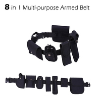 8 IN 1 Multifunctional Outdoor Self Defense Tactical Belt Security Belts Training Polices Guard Utility Heavy