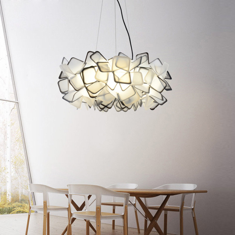 Nordic creative Pendant Lights contracted lamps, modern romantic art restaurant droplight, E27 lamp holder contemporary and contracted three small droplight nordic restaurant led creative personality art stage chandeliers office lamps