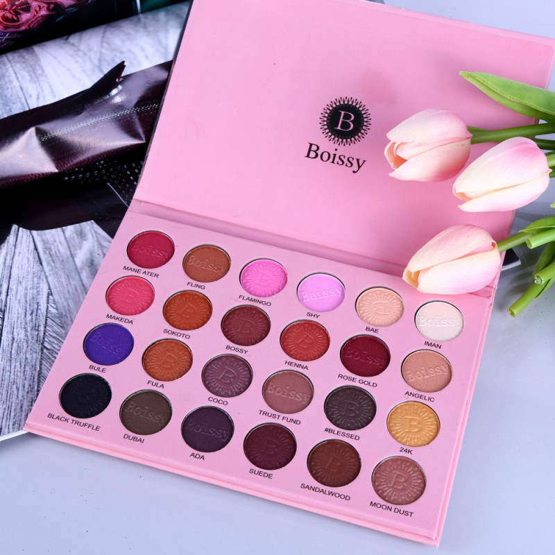 24 Colors Shimmer Eyeshadow Palette Pressed Powder Matte Beauty Makeup Eye Shadow Palette Shimmer Smokey Eyes Cosmetics цена