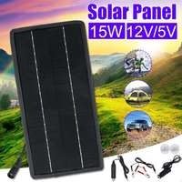 Outdoor 15W USB Solar Panel 5V 12V Solar System DIY For Battery Car Chargers Portable Solar Cell