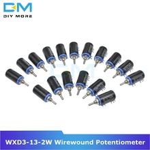Diymore WXD3-13-2W Wirewound Potentiometer Resistance Ohm 10 Turns Linear Rotary Potentiometer 5% +5% -5% Electronic Diy