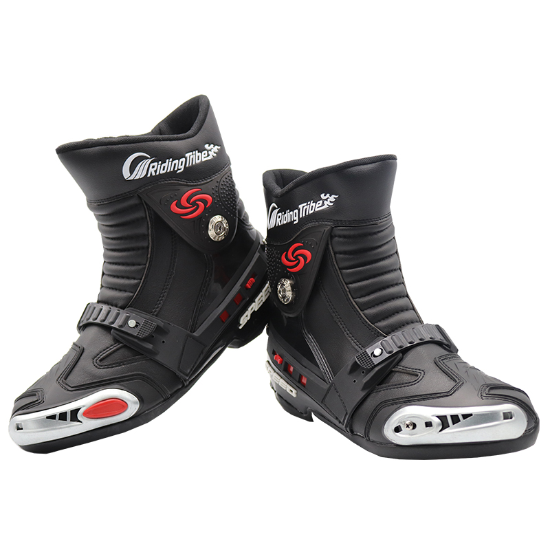 Riding Tribe Motorcycle Riding Boots Microfiber Leather Motocross Off-Road Racing Ankle Boots Street Riding Shoes Protective Gea куртка для мотоциклистов riding tribe