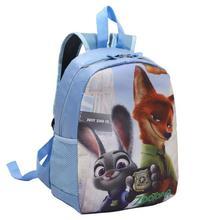 Zootopia bolsos de Escuela Los Niños Mochila de Dibujos Animados Lindo kindergarten Schoolbag Casual Kids School La Bolsa de Libros