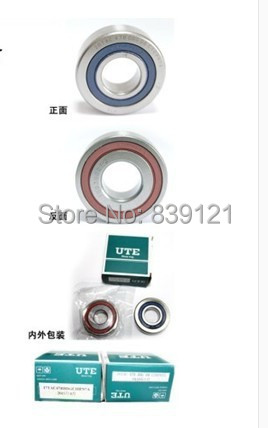 UTE double roulement à contact oblique scellé 7002DT broche de machine de gravure à grande vitesse dédiée à la broche 2.2kw, anti-poussière