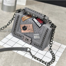 Chic handbags for Punk fashion trend messenger bags single shoulder retro For women Ladies bolsa feminina malas de viagem