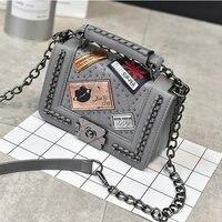 Flap Bag Chic Handbags For Punk Fashion Trend Messenger Bags Single Shoulder Retro Diamond Lattice For
