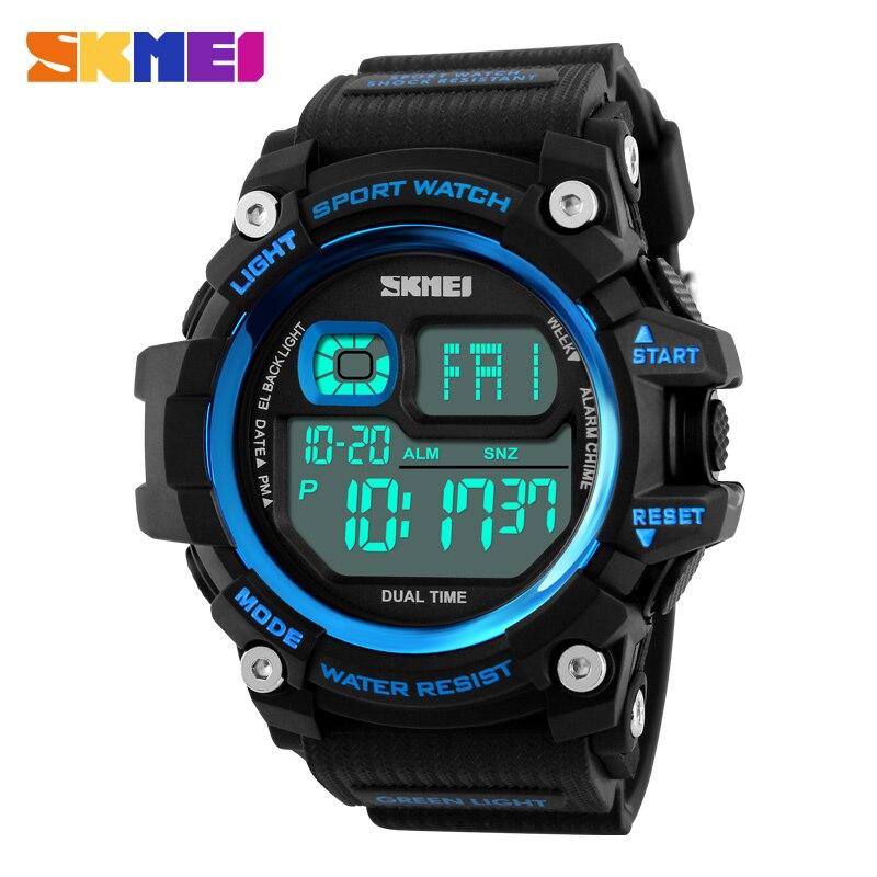 SKMEI 1229 Brand Men Sport Watch Fashion Digital Wristwatches Big Dial LED Chronograph Male Clock Outdoor Military Man Watches skmei outdoor sports men running big dial digital chronograph watch