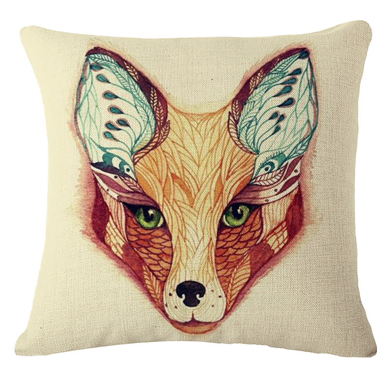 Animal Pillows Bulk : Wholesale 2016 Fox series /Animal thick linen pillow, home decorations without Core Plush Sofa ...