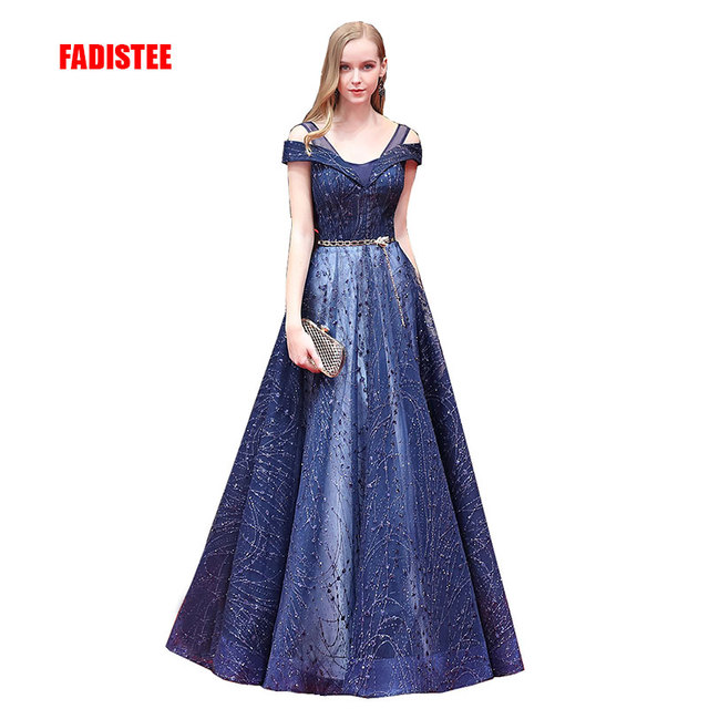 FADISTEE New arrival gorgeous prom dresses sequins evening formal party  dresses vestidos de festa sashes lace long style ec2d712da15e