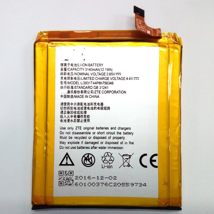 FOR ZTE Axon 7 5.5inch A2017 LI3931T44P8H756346 battery Rechargeable Li-ion Built-in lithium polymer battery