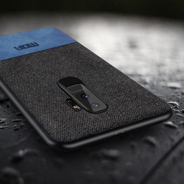 MOFi Samsung Galaxy S9 S9 Plus Luxury Fabric Shockproof Back Case Cover