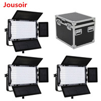 Falcon Eyes 3pcs 100W Dimmable LCD Studio Light Panel LED Video Light with Aluminum Carry Case LED Photo Lighting LP 2005TD CD15