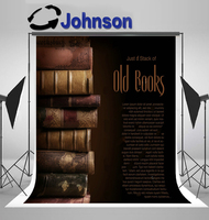 wall photo backdrop Vinyl cloth High quality Computer print Old Antique Books Stack backgrounds