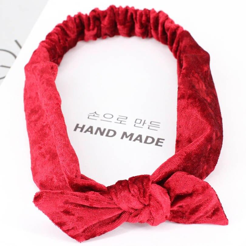 2018 New Korean Rabbit Ears Velvet Headband Women Twist Cute Hairband Bow  Knot Tie Headwrap Vintage Hair Hoops Gift Headwear-in Women s Hair  Accessories ... 21777c08f652