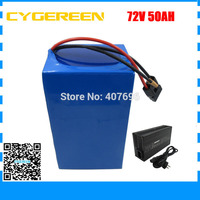 5000W 72V 50AH lithium battery pack 72 V ebike tricycle wheelchair battery 35E Cell 100A BMS and 84V 4A Charger FREE TAXES