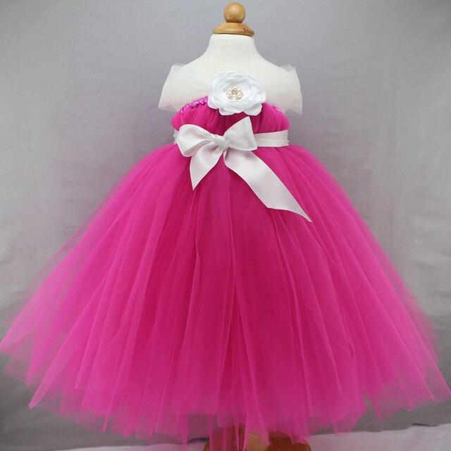 Rosa Rosa Tutú Del Bebé Vestido de la Princesa de 12 Meses 1 año de ...