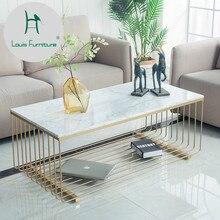 Модный журнальный столик в скандинавском стиле, мраморная, железная, прямоугольная, простая, маленькая, для гостей