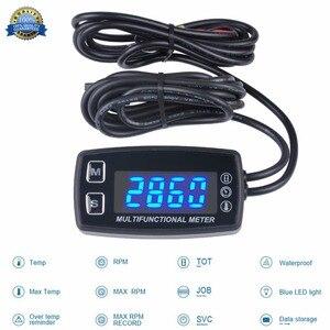 Image 1 - Stunde Meter LED Tacho Thermometer Temperatur Meter für Benzin Marine Außenborder Motorschirm Trimmer Grubber Pinne 035LT